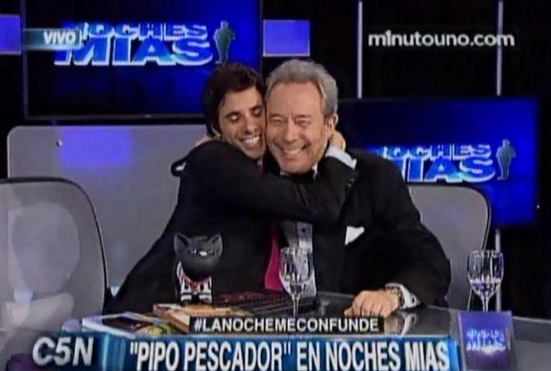 Robertito Funes y Pipo Pescador hicieron las paces en Noches mías