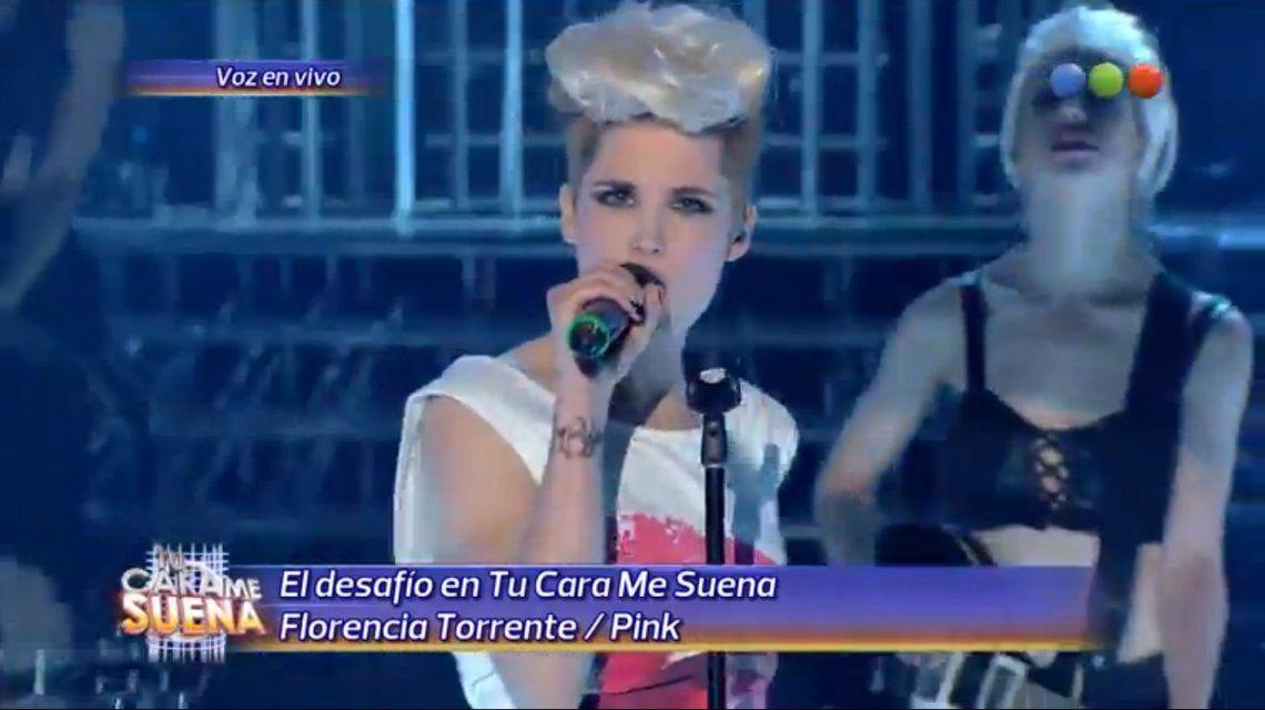 Tu cara me suena: Mirá la increíble actuación de Florencia Torrente en la piel de Pink