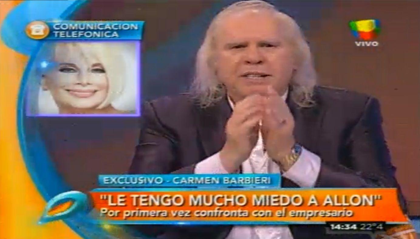 Carmen Barbieri vs Johnny: Si me llega a pasar algo, Allon es el responsable