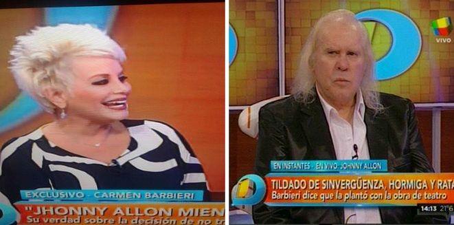 Carmen Barbieri rebautizó a Johnny Allon: Le tengo miedo a Johnny Alien