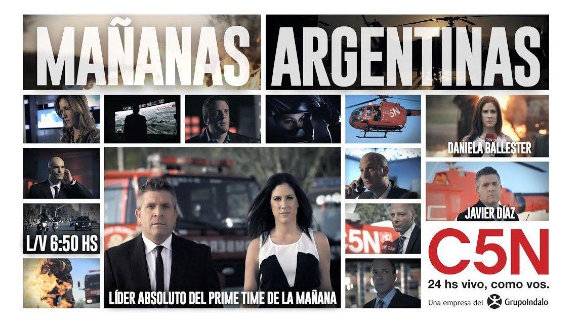 Mañanas argentinas el noticiero más visto del prime time