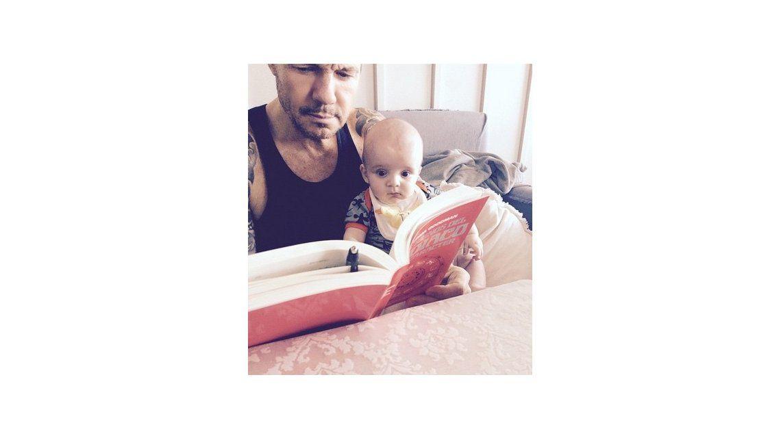 Padre e hijo concentrados: la tierna foto de Marcelo Tinelli junto a su hijo Lorenzo