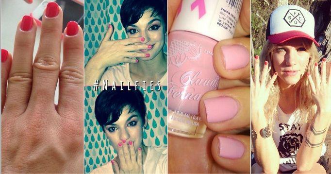 Las famosas se pintaron las uñas de rosa y concientizaron sobre el cáncer de mama