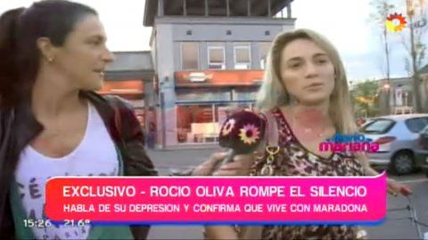 Rocío Oliva reapareció en TV y confirmó que pasó la noche con Diego Maradona