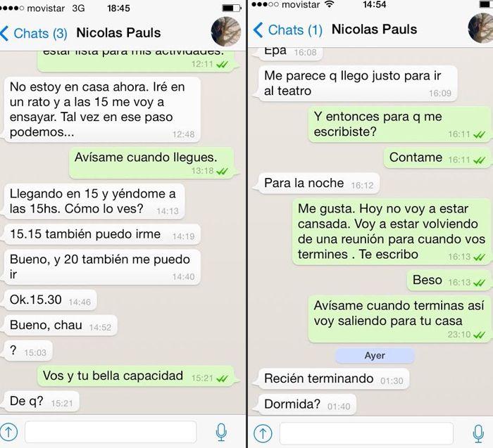 Las pruebas del romance Nicolás Pauls-Nieves Jaller: cruce de mails y chats