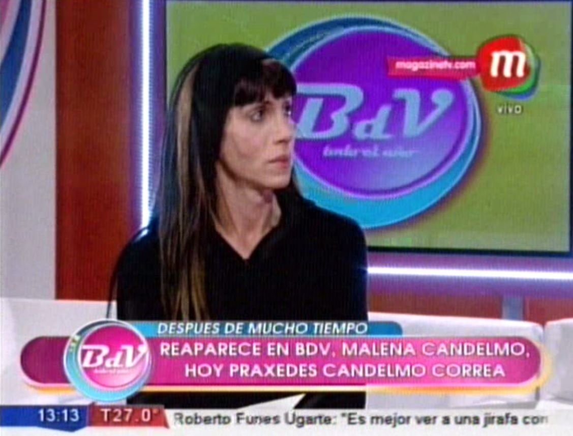 Muchos años después, reapareció en televisión Malena Candelmo, del caso Bambino Veira