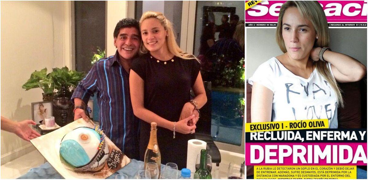 Rocío Oliva depresiva, enferma y recluida: el lado B de ser la novia de Diego