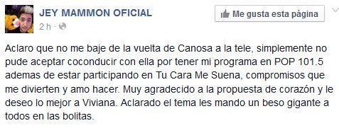La primera negativa para Viviana Canosa