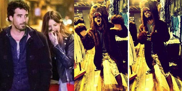 Nacho Viale se disfrazó de oso y posó para su novia, Candelaria Tinelli