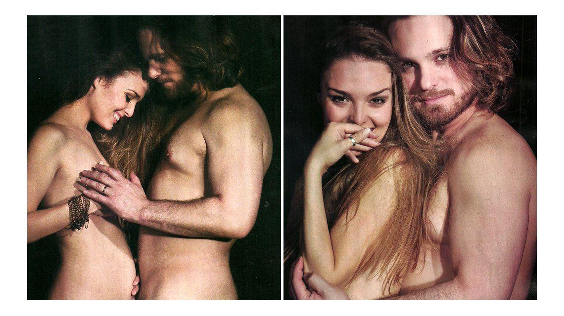 Florencia Otero y Germán Tripa Tripel esperan desnudos a su primer hijo
