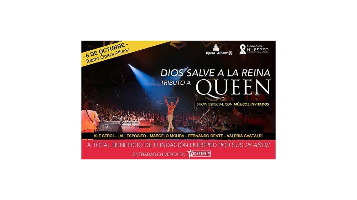 Lali Espósito cantará con Dios Salve a la Reina en el show a beneficio de Fundación Huésped
