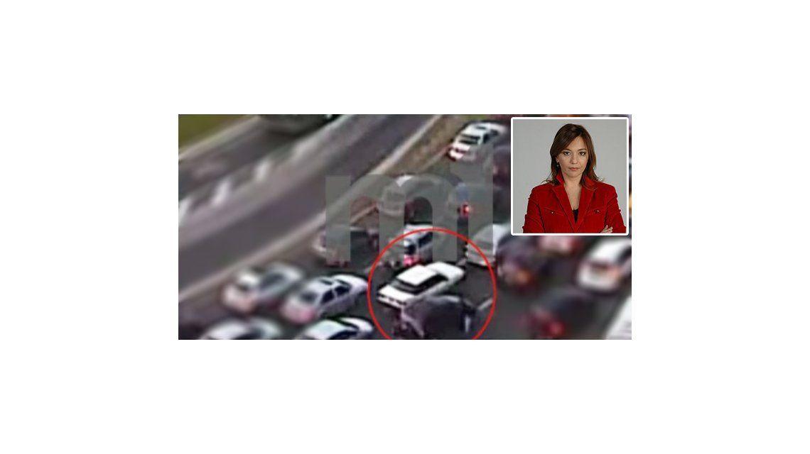 Mirá el video del asalto a la periodista Lorena Maciel en pleno centro