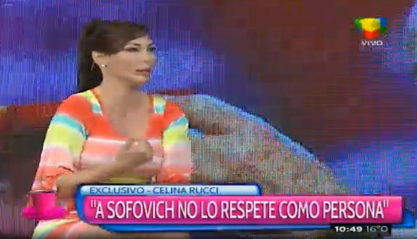 Celina Rucci: No lo respeto a Gerardo Sofovich como persona