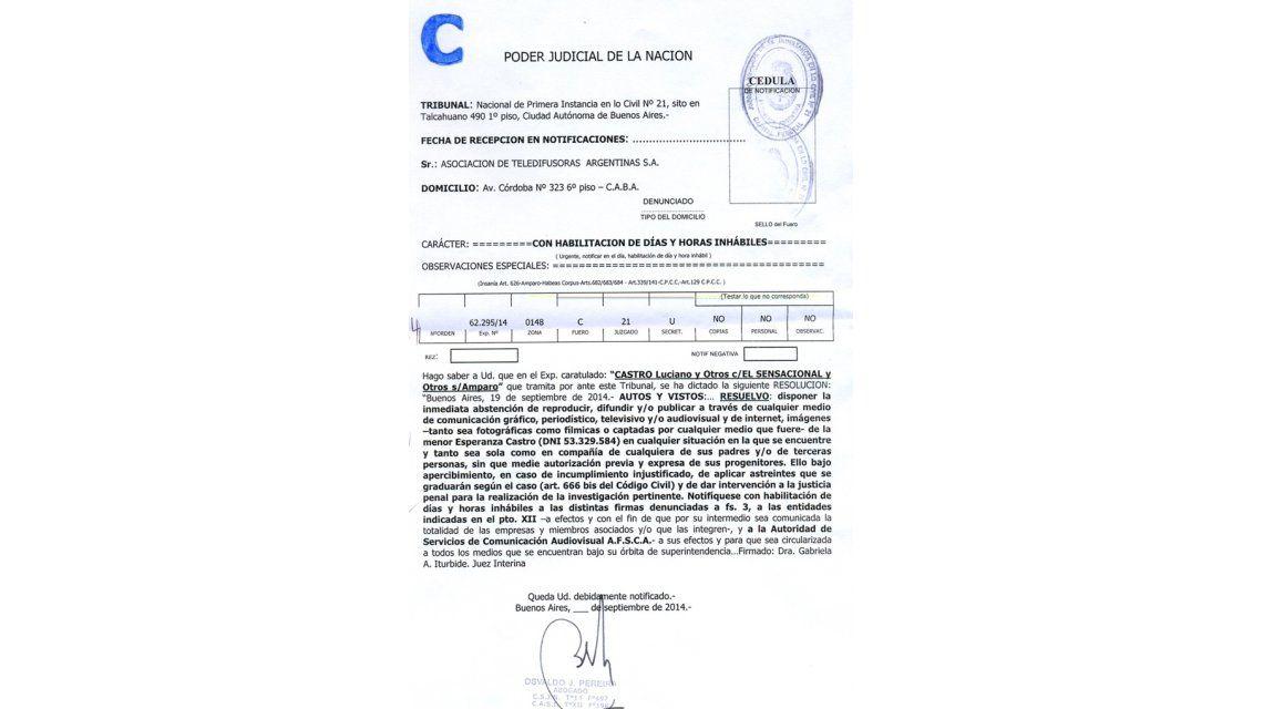 Luciano Castro consigue un recurso judicial: no se podrá mostrar a su hija en TV