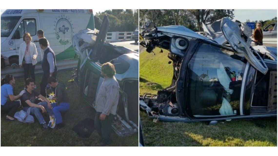 Julio Bocca sufrió heridas leves en un accidente de auto en Uruguay
