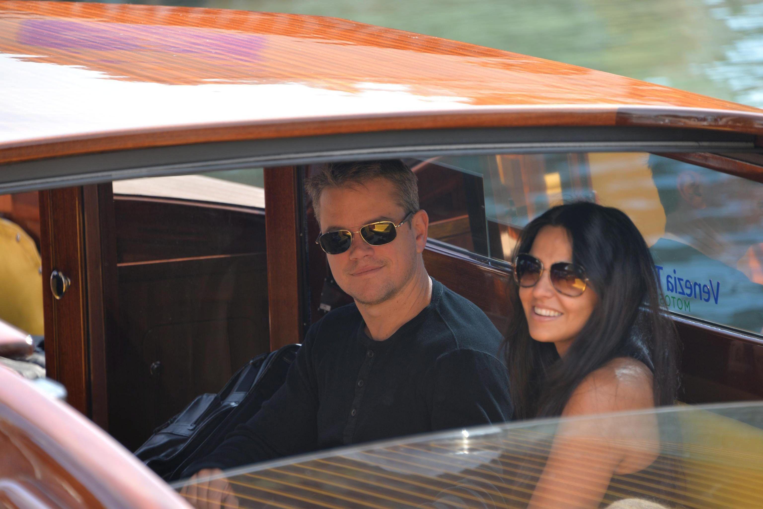 Matt Damon y su mujer