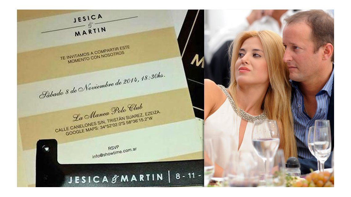 La polémica invitación de Martín Insaurralde y Jésica Cirio a su casamiento