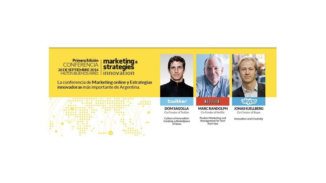 Los fundadores de Twitter, Netflix y Skype darán una conferencia en Buenos Aires