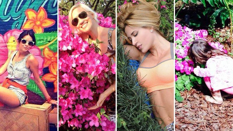 Los famosos festejaron el Día de la Primavera en las redes sociales