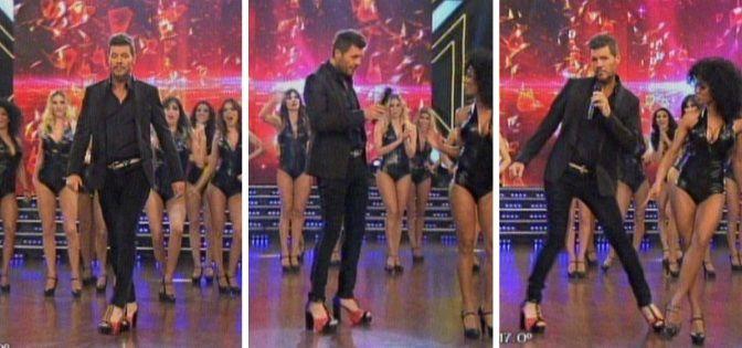 Marcelo Tinelli inauguró el nuevo ritmo Femme Style: desfiló en tacos en la pista del Bailando y Guillermina le dedicó un mensaje