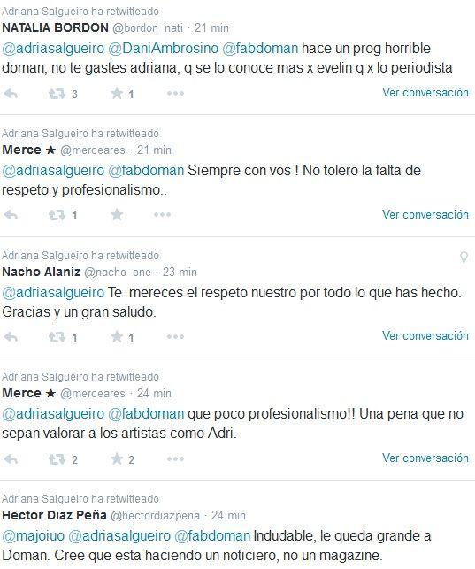 Adriana Salgueiro: ¿Para qué me invitan a un programa donde no te dejan hablar, Doman?