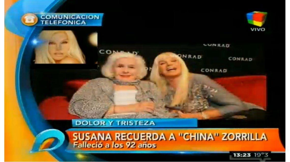El recuerdo de Susana Giménez: Era una mujer hermosa, cultísima y especial