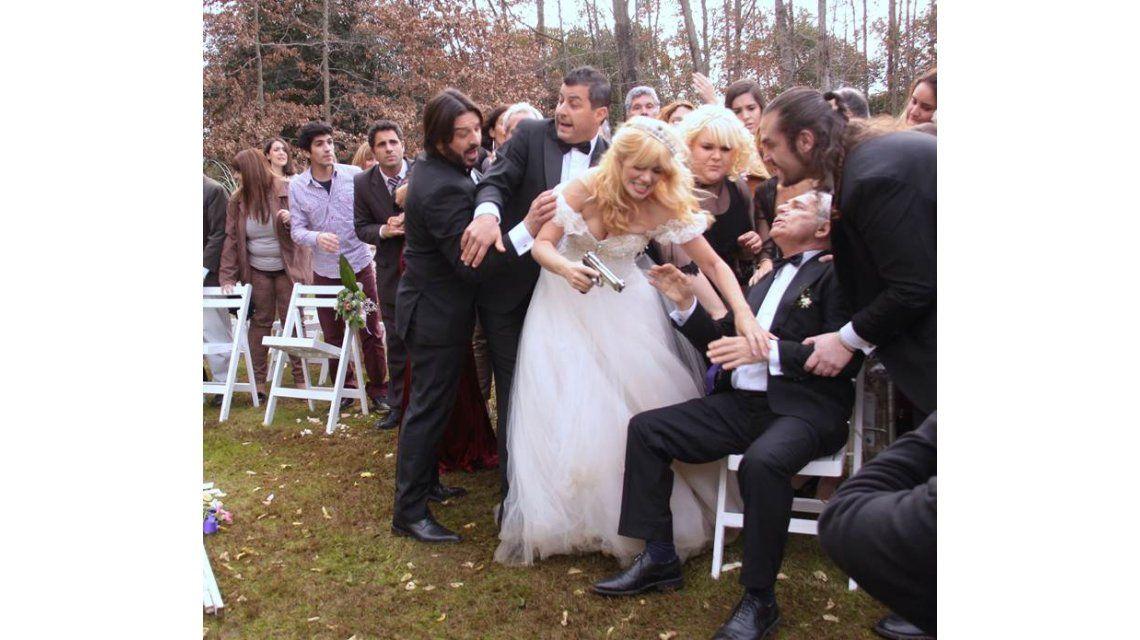 La boda de De Santo y Siciliani en Viudas: el no del novio y la locura de ella