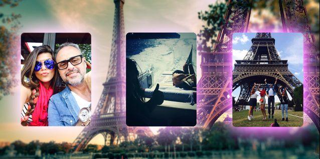 El álbum de las vacaciones de Jorge Rial con sus hijas y Loly Antoniale en Europa
