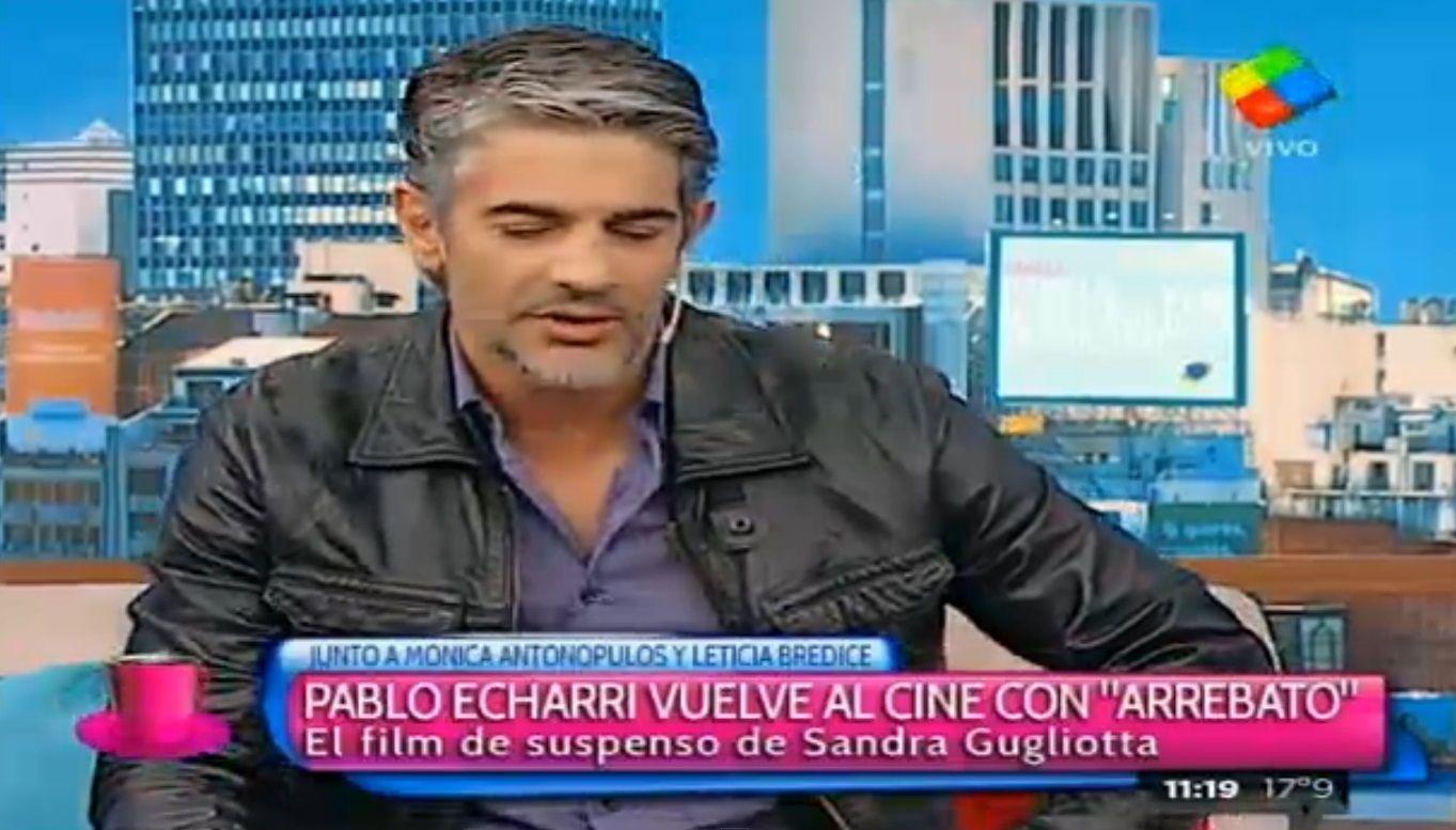 Pablo Echarri habló de todo: desde los actores complicados hasta su mala relación con el periodismo