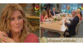 Mirtha no lo puede creer: Cecilia Dopazo en patas en pleno almuerzo