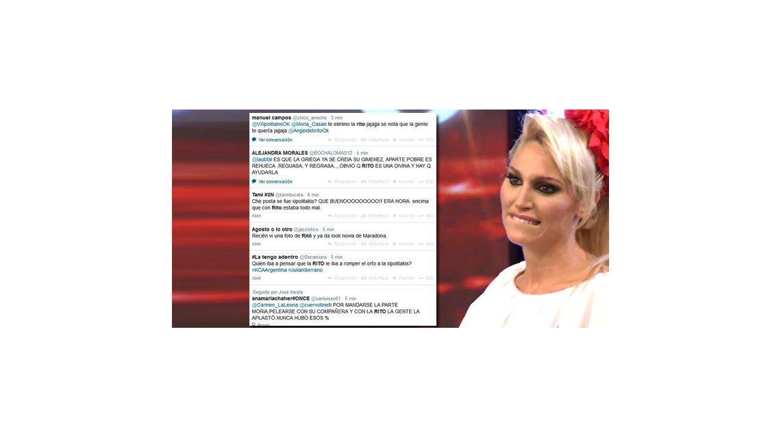 Las redes sociales contra Vicky Xipolitakis: festejan su salida del Bailando