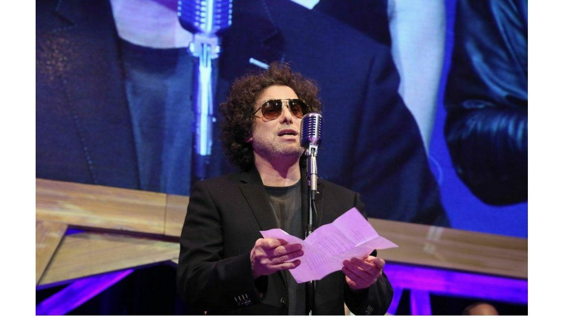 La emotiva dedicatoria de Andrés Calamaro a Gustavo Cerati en los Gardel