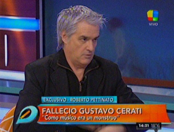 El recuerdo de Roberto Pettinato: Cerati era un monstruo
