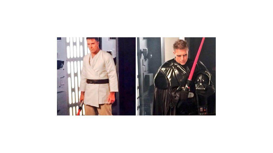 Alejandro Fantino se viste de Luke Skywalker y Darth Vader para una producción de fotos