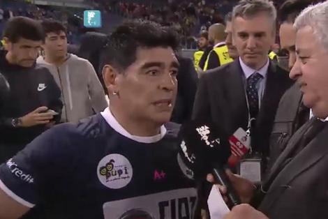 Maradona, al finalizar el Partido por la Paz: Icardi no tendría que haber jugado