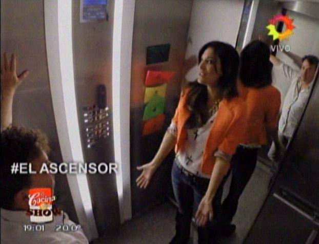 Aníbal Pachano y Silvina Escudero se vieron las caras en #ElAscensor