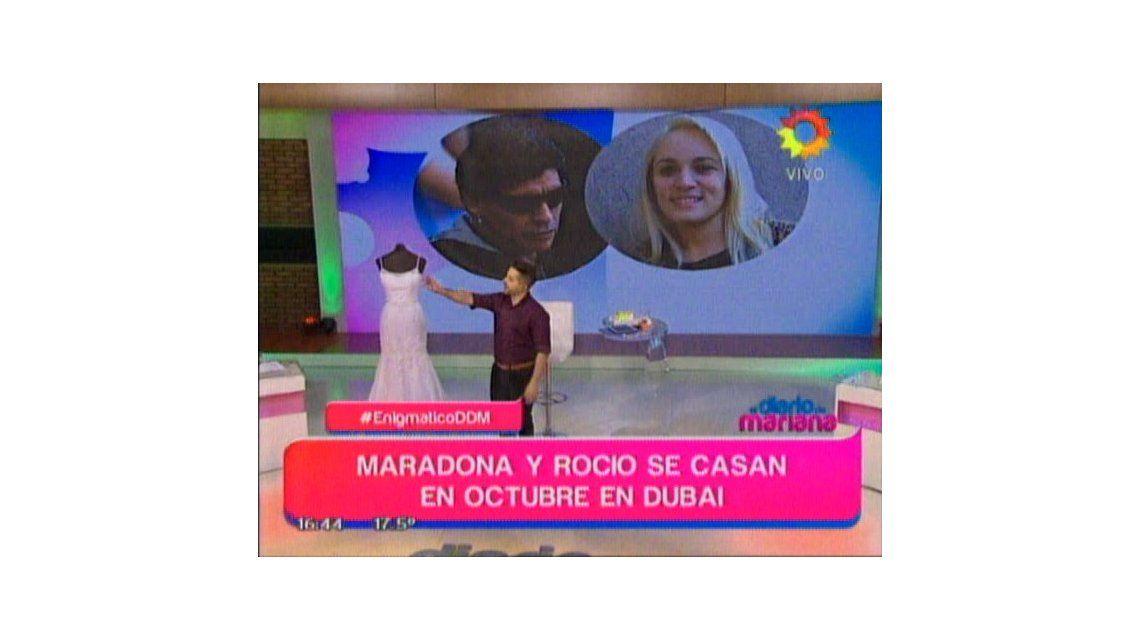 La elegida: Diego Maradona se casa con Rocío Oliva este año en Dubai