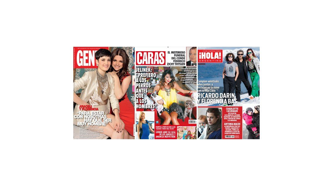 Tapa de revistas: Araceli González, Karina Jelinek y Ricardo Darín íntimos