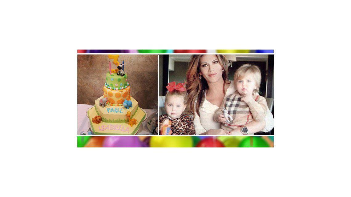 En medio de la polémica sobre su maternidad, Florencia de la V celebró el cumpleaños de sus hijos