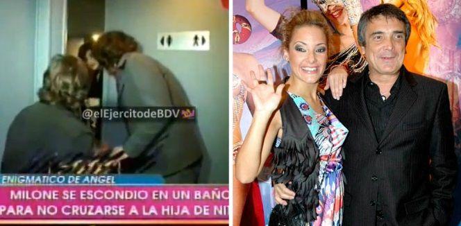 Estreno con escándalo: Cecilia Milone huyó de la hija de Nito Artaza y se escondió en un baño