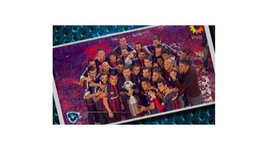 Tinelli llevó el festejo de San Lorenzo campeón de América:Cumplí el sueño de mi vida