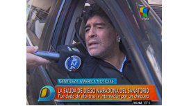 Diego Maradona abandonó el sanatorio: Está mejor que nunca