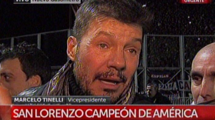 San Lorenzo campeón: los festejos de los famosos; la emoción de Marcelo Tinelli