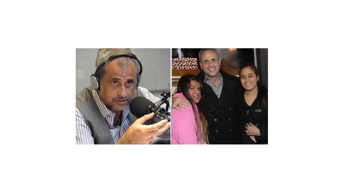 Jorge Rial se quebró al aire y lloró por sus hijas