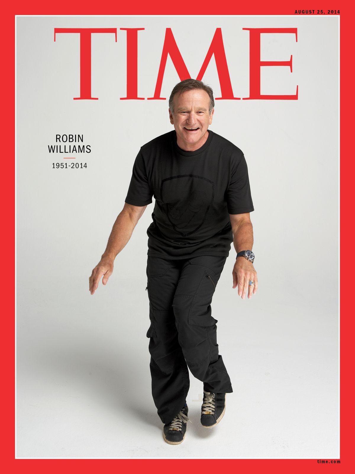 La muerte de Robin Williams llegó a la tapa de la revista Time