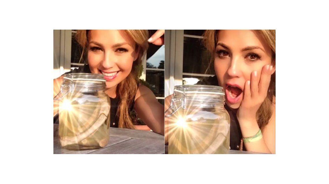 Video revelador: Thalía mostró en las redes sociales las supuestas costillas que se sacó