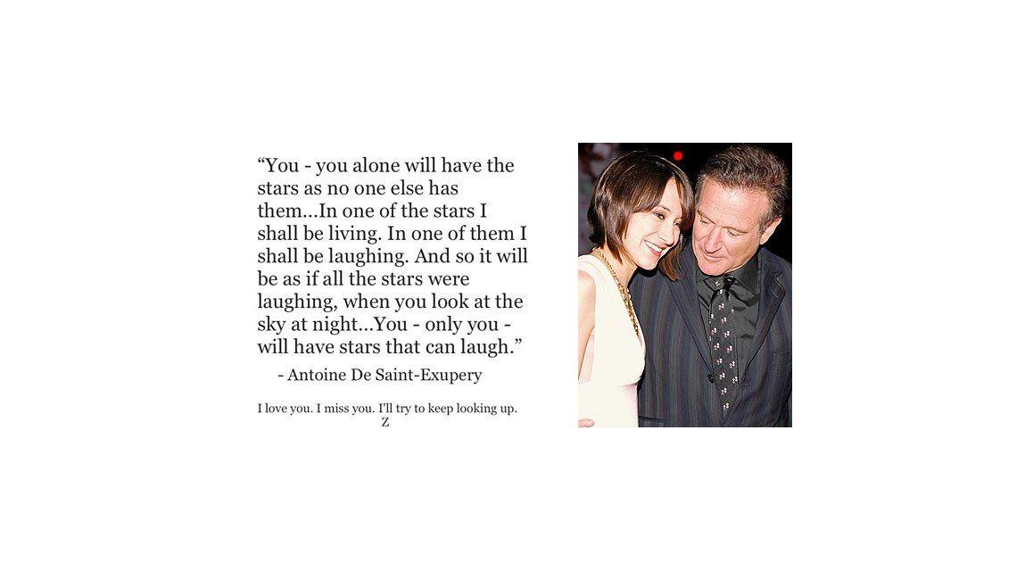 La emotiva despedida a Robin Williams de su hija Zelda: Vos sólo tendrás las estrellas