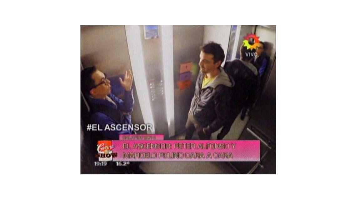 Polino y Pedro Alfonso se cruzaron en el ascensor de La Cocina y se dijeron de todo