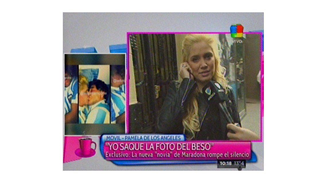 Pamela de los Ángeles reveló que besó a Maradona antes de la fiesta del Día del Amigo