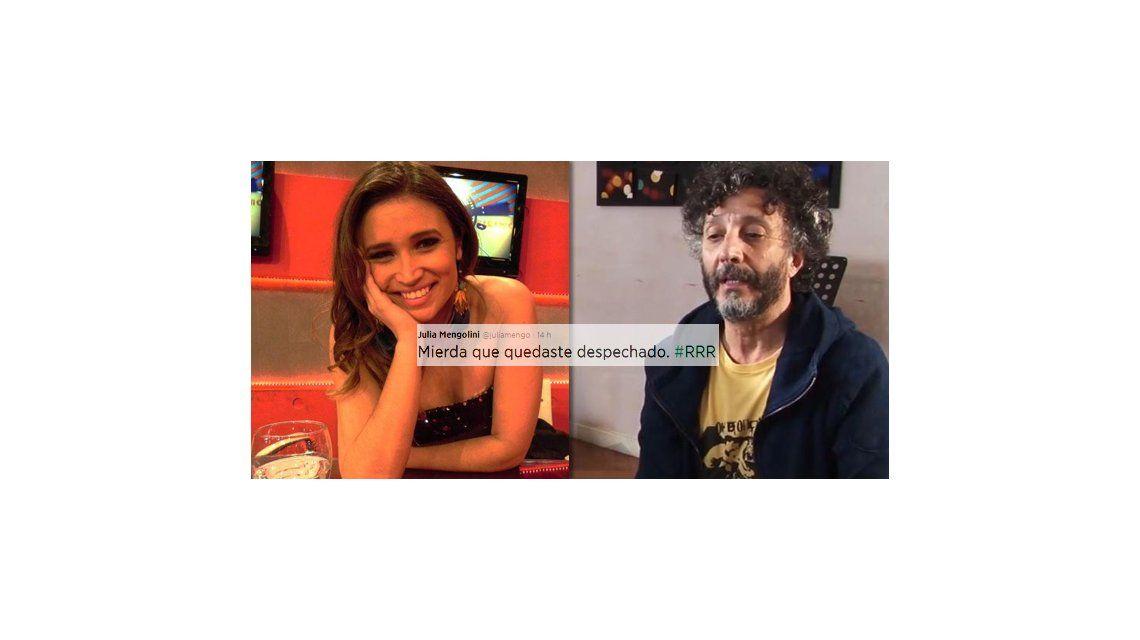 Fito Páez atacó a Julia Mengolini en un tema y ella disparó: Mierda que quedaste despechado